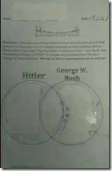 Bush Hitler Comparison Assign